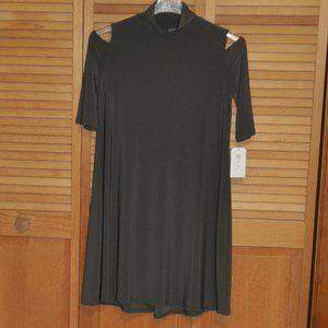 Clara Sunwoo Olive Green Tunic Dress NWT